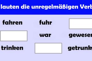 Nepravilni glagoli u njemačkom