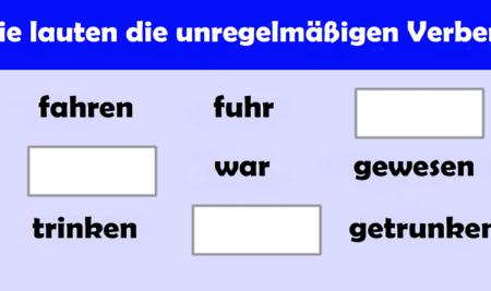 Nepravilni glagoli u njemačkom jeziku